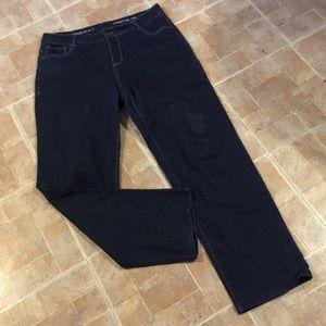 Avenue straight leg jeans size women's 14
